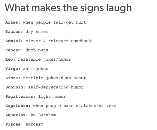 this is really true for me.. plus I laugh at anything tho..