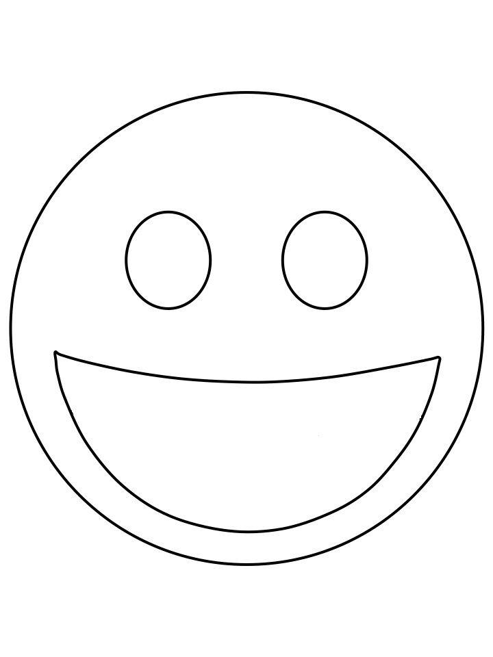 happy emoji | emoji coloring pages, kindergarten coloring