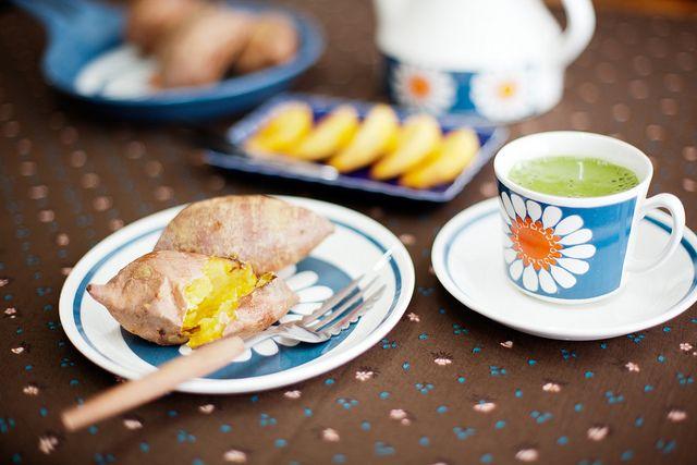 Grill sweet potato #breakfast