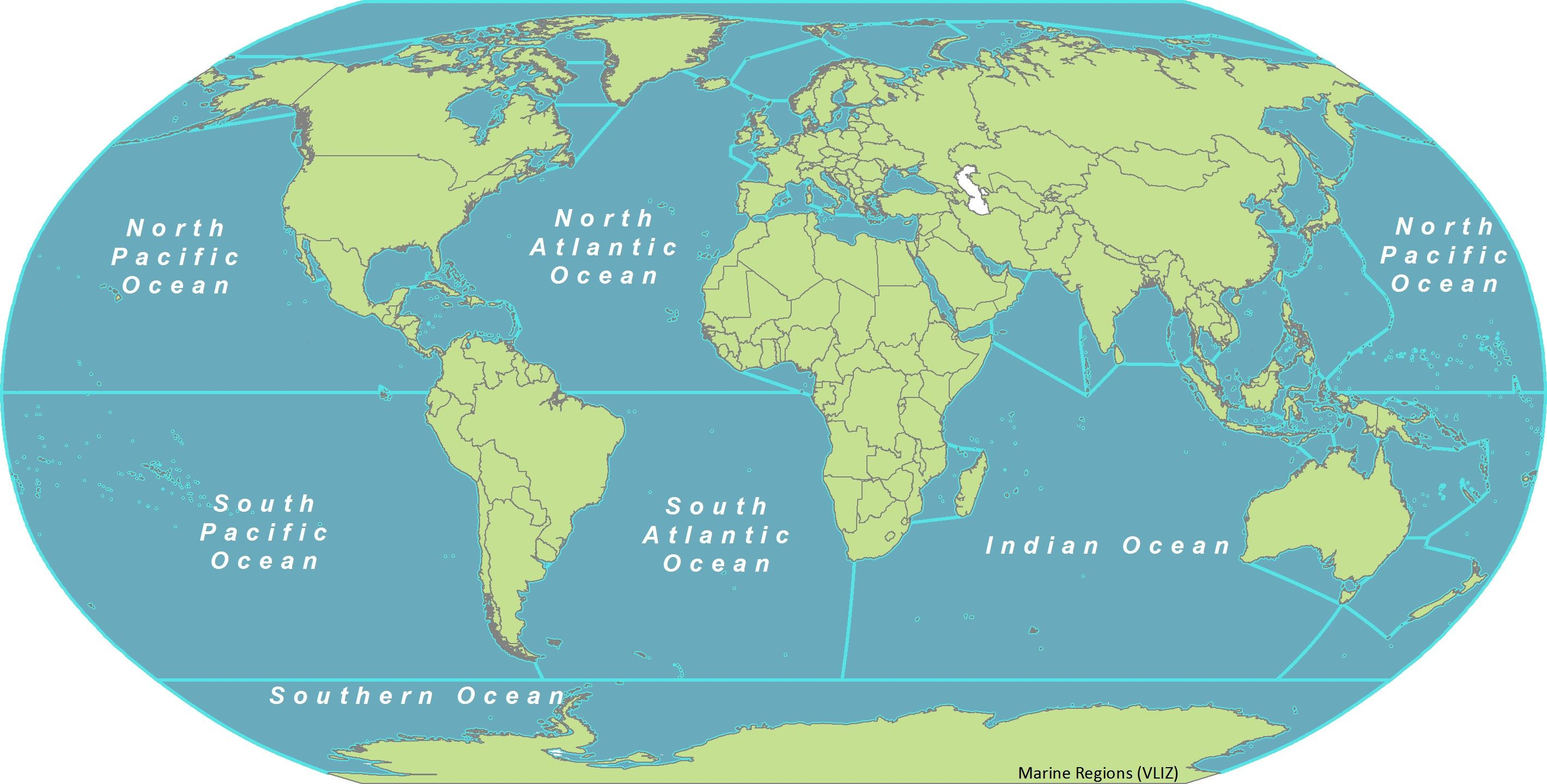 World Map Oceans And Seas Valid Ocean Travel For Of