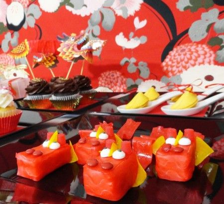 Chinese new year desserts chinese new year party dragon cupcakes chinese dragon rice krispie treats party planning party ideas cute food holiday ideas tablescapes special occasions and events party pinching forumfinder Gallery