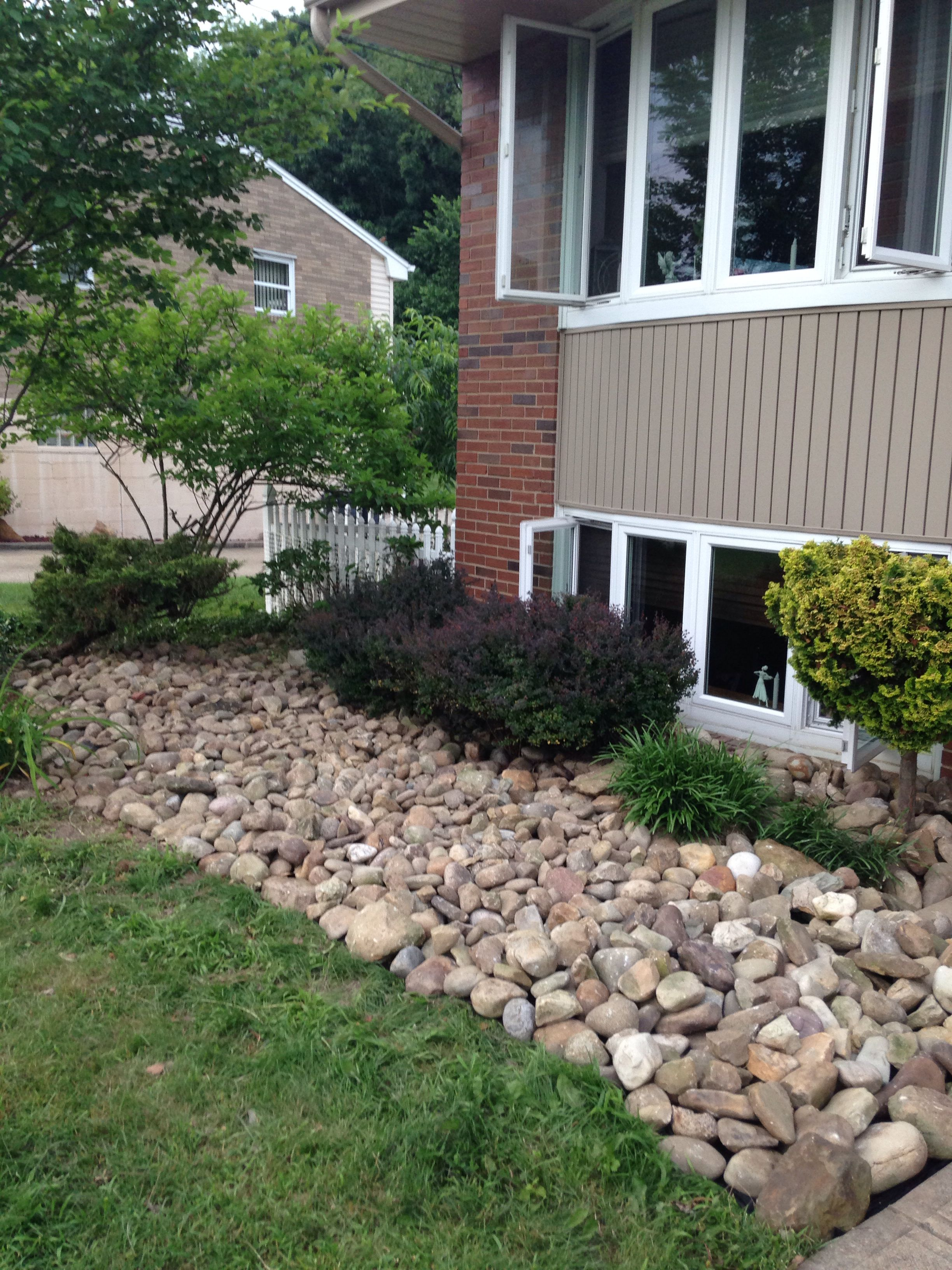 Front yard rockscape | I made it | Yard, Landscape on rock front yard designs, desertscape front yard designs, landscaping front yard designs,