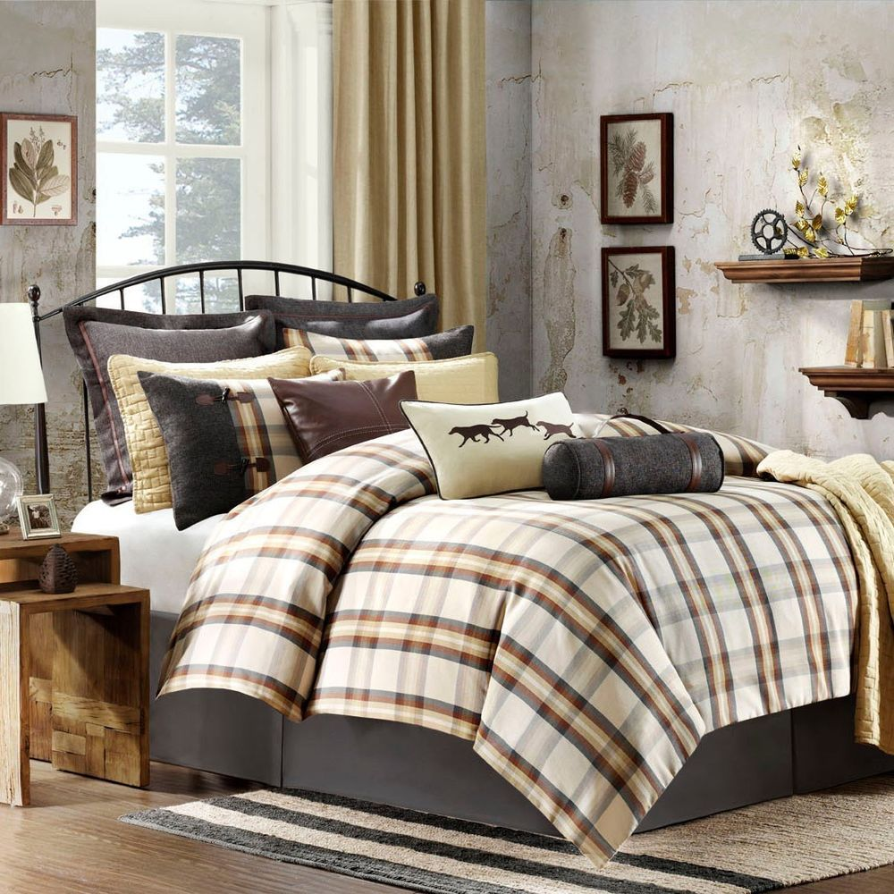 Woolrich Oak Harbor Plaid 7 Piece King Comforter Set #Woolrich #Country  #mothersday