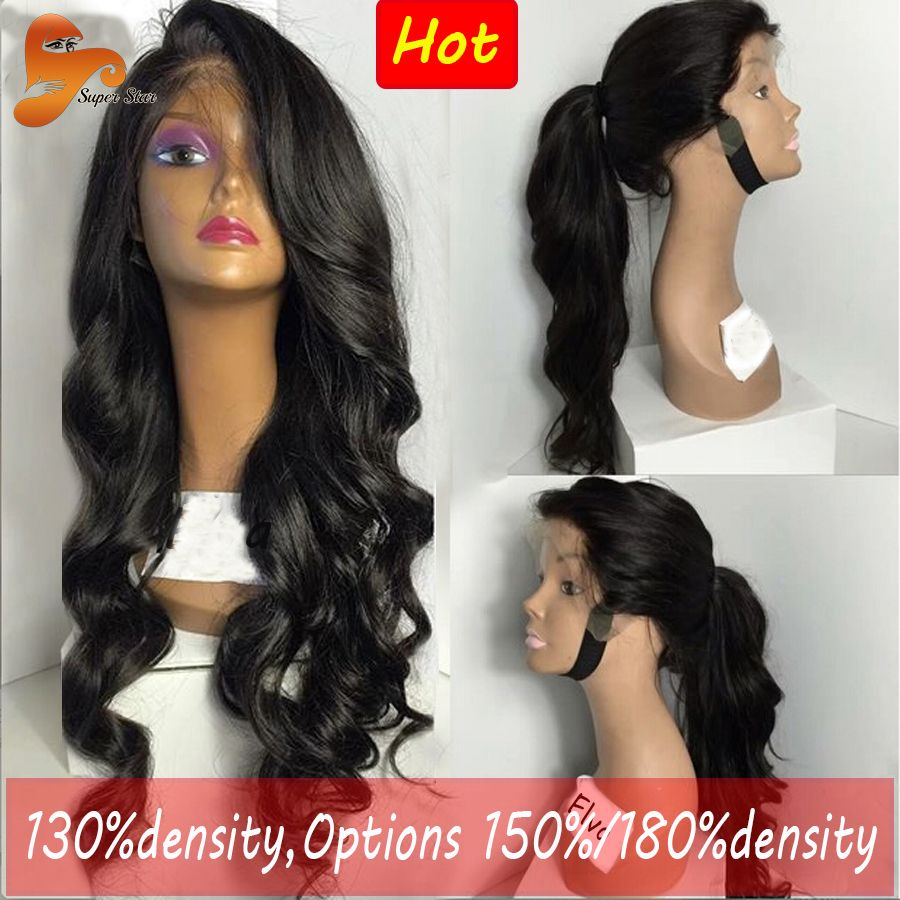 Wavy lace front wig brazilian virgin human hair lace front wigs