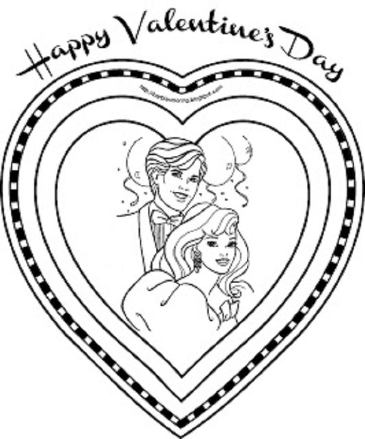 barbie valentine coloring pages | Coloring Pages For Kids | Pinterest