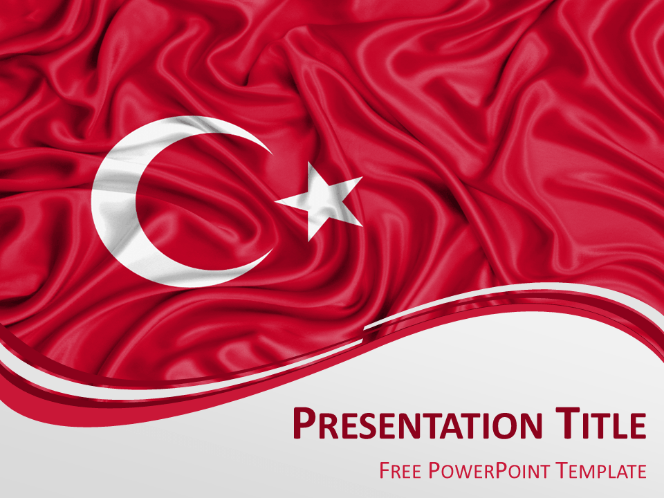 Free powerpoint template with flag of turkey background free powerpoint template with flag of turkey background toneelgroepblik Images
