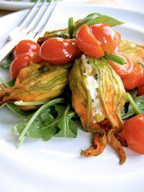 The Bojon Gourmet: Zucchini, Corn and Chèvre-Stuffed Squash Blossoms