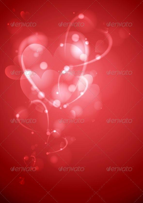 Valentines Day or Wedding Background Vector Illustration
