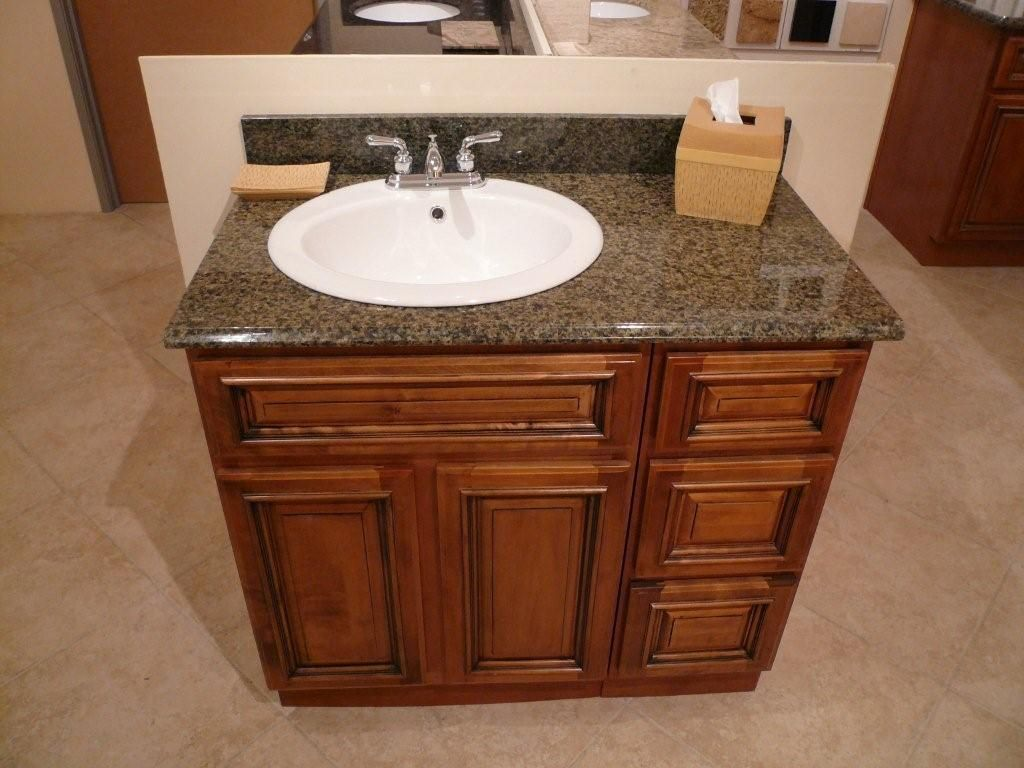 Vanity countertop with offset sink basin. I like the idea of having a u003c24