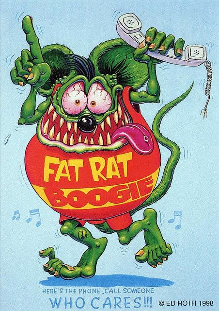 ☮ American Hippie Art ~ Ed Roth .. Fat Rat Boogie
