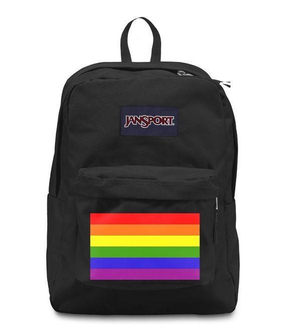 Gay Pride Rainbow Jansport Backpack Bookbag by IntellexualDesign ... dbe0b311627
