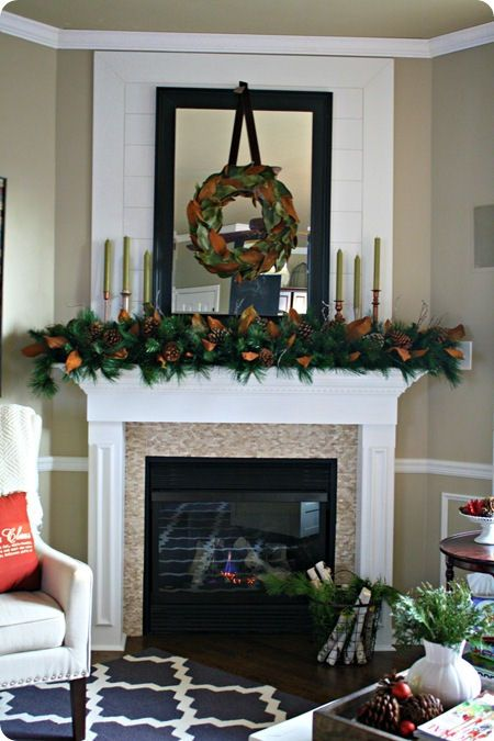 images of two story mantels Christmas Mantel Inspiration from