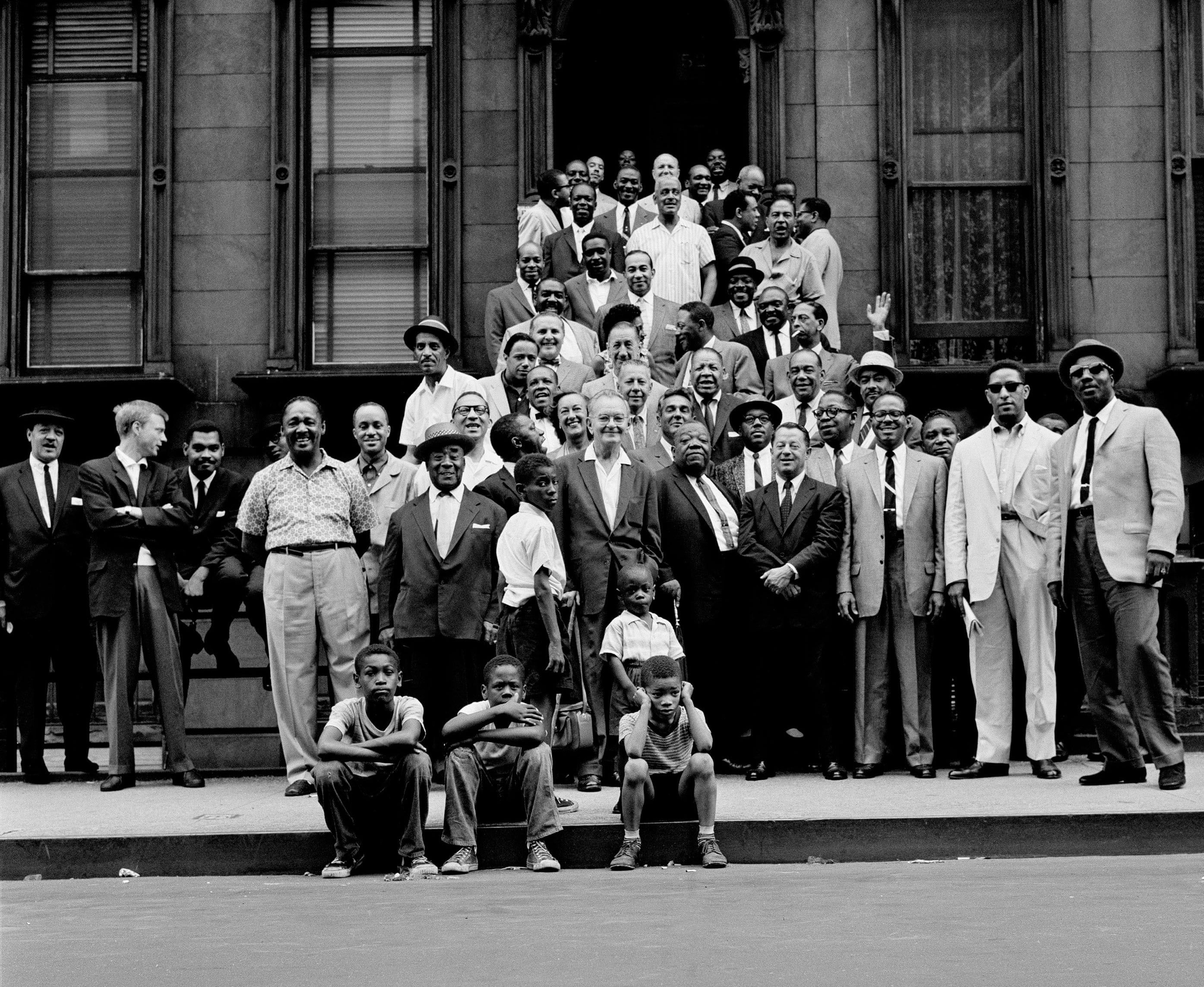 A Great Day in Harlem behind Art Kane's classic 1958 jazz