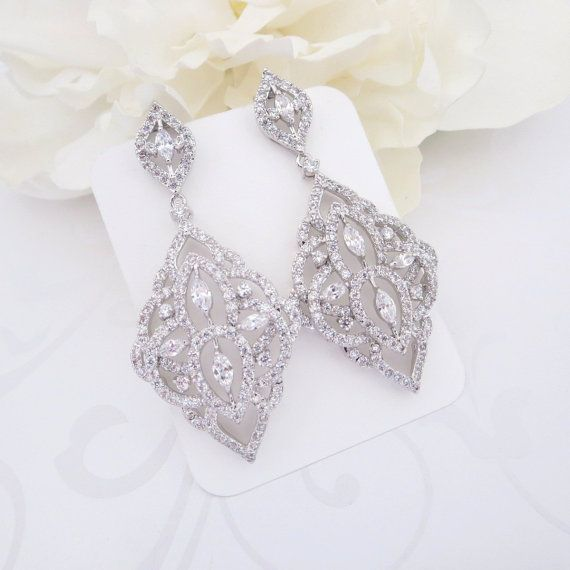 Crystal bridal earrings chandelier wedding earrings bridal jewelry crystal bridal earrings chandelier wedding by theexquisitebride mozeypictures Choice Image