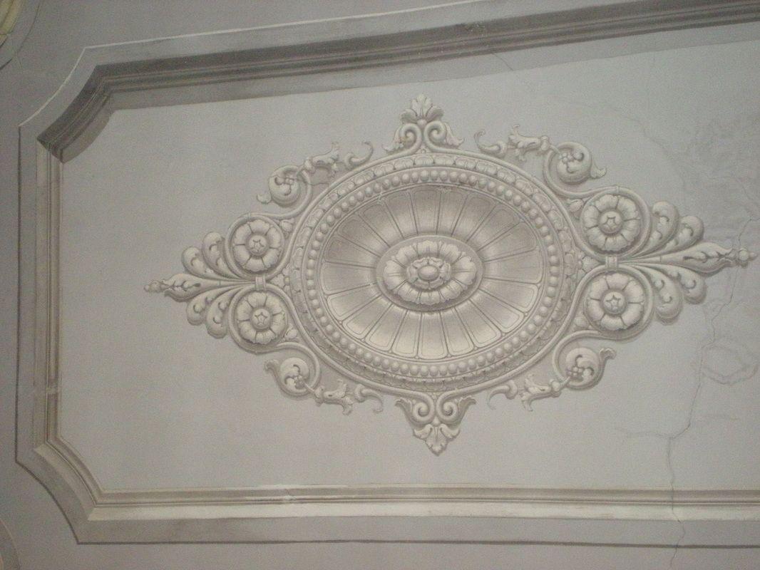 tecnica a bianco di calce Decorazioni, Soffitto, Pittura