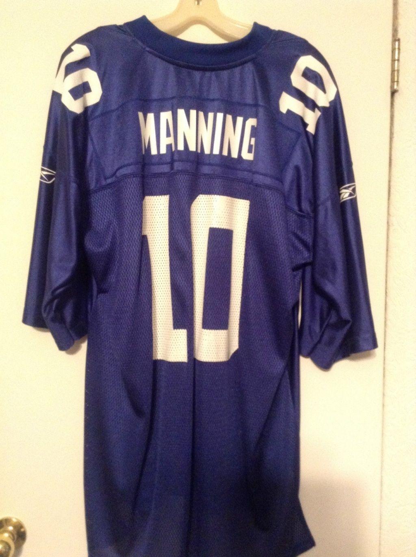 detailed look e9f5a e0890 NFL jersey Reebok Replica Eli Manning New York Giants | New ...