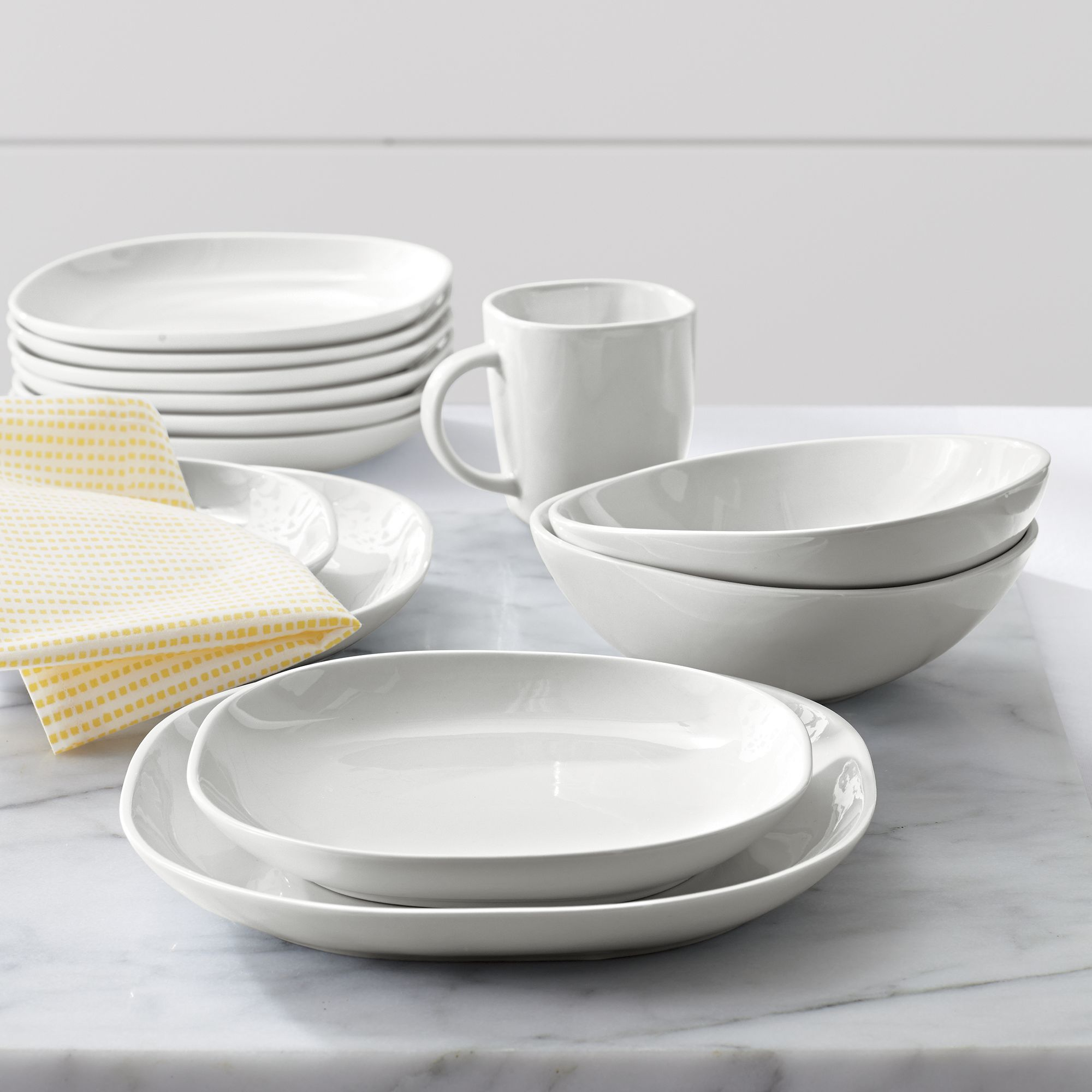 Dining & The circle rounds the square in Olivia Barry\u0027s exclusive dinnerware ...