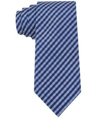 Calvin Klein Tubic Gingham Skinny Tie