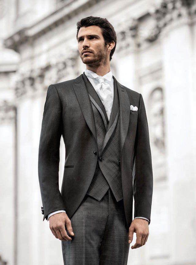 trajes de novio vintage elegantes con chaleco cruzado  f7f72cf1555f
