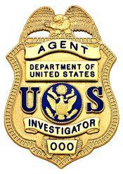 3 inch Eagle Top Smith & Warren Police Badge S22_US | PLOICE
