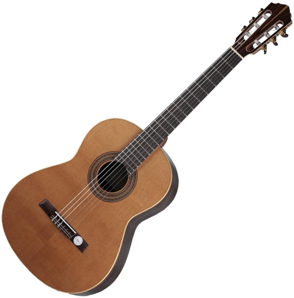 Hofner Hz28 Classical Guitar The Solid Cedar Top Provides Powerful Sound Projection And The Appearance I Classical Guitar Guitar Classical Guitar Sheet Music