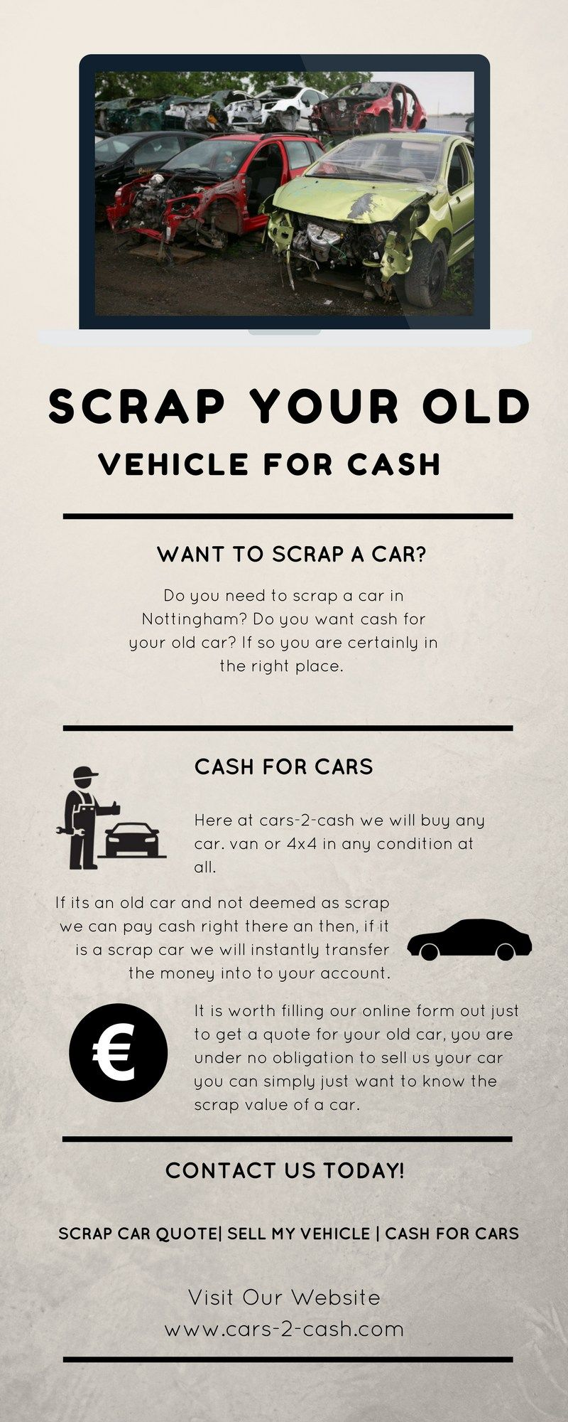 Cash For Cars Online Quote Scrap Old Vehicle For Cash Httpswww.liveinfographiciscrap