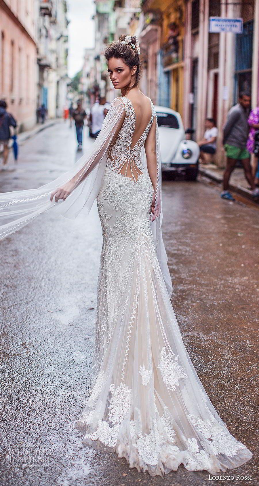 Elegant fitted wedding dresses  Lorenzo Rossi  Wedding Dresses u ucHavanaud Bridal Campaign