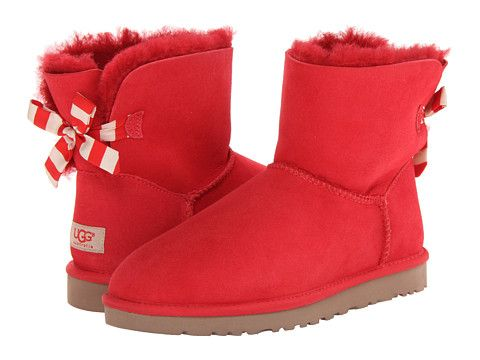 b4fda79fc35 UGG Mini Bailey Bow Stripe Red Twinface - 6pm.com | Lady'z Fazhion ...
