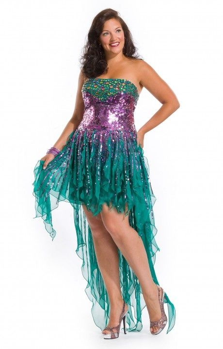 Marti Gra dresses | Mardi Gras Mermaid Plus Size Party Dress ...