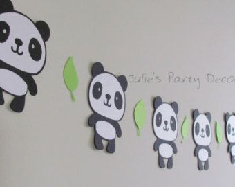 Panda garland panda banner panda by endearingcreations3 on for Panda bear decor