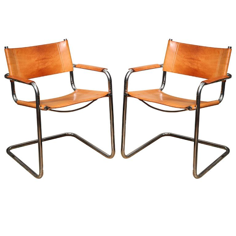 pair of tan leather marcel breuer chairs in 2019 great. Black Bedroom Furniture Sets. Home Design Ideas