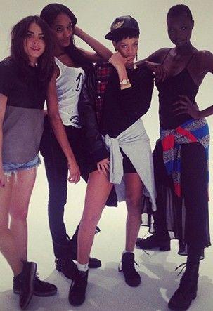 Rihanna vai criar uma nova grife masculina para 2014 esta trabalhando dês do dia 10 de  julho . Aguardem navys ...