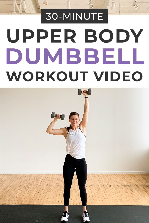 Upper Body Dumbbell Workout Video