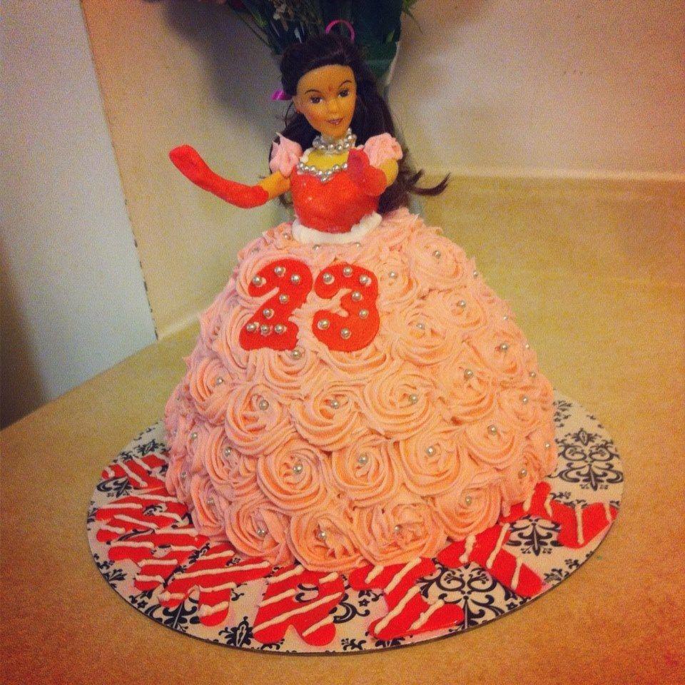 Barbie Cake Butter cake, Butter cream frosting Fondant Finishing