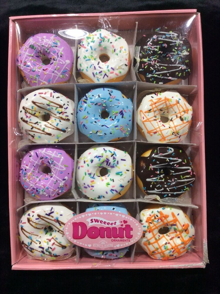 Kurt Adler Set Of Twelve 2 75 Inch Donut Ornament Kurtadler Christmas