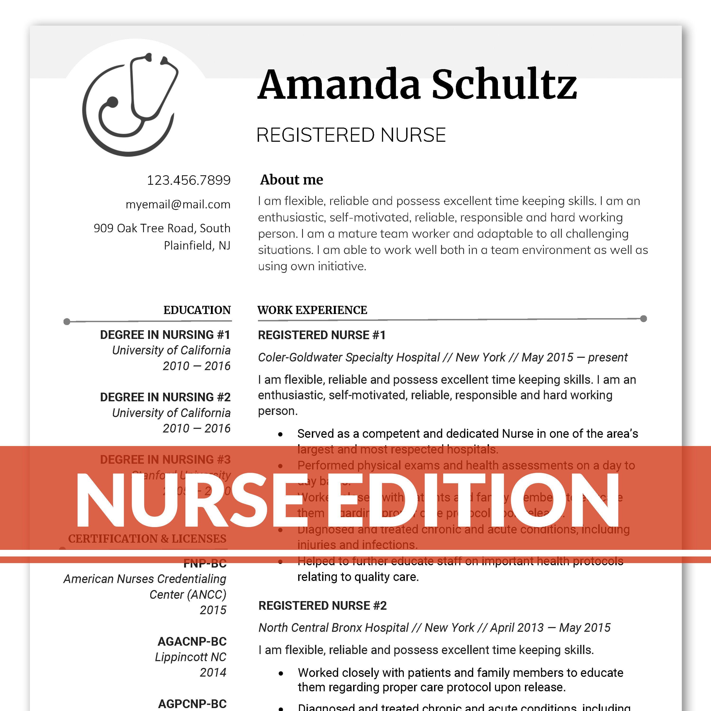 Nurse Resume Template Nursing resume RN Resume for