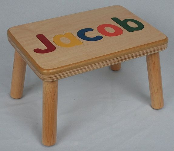 Incredible Name Puzzle Step Stool Bench Birthday Gift Wood Pdpeps Interior Chair Design Pdpepsorg