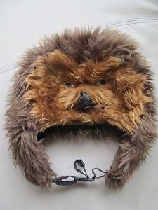 38fb6580974 Chewbacca HAT Mask Star Wars Beanie Brown Costume Disney