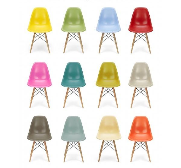 Eames Style Plastic Chair Unfinished Wood Child Dining Chairs Molded Replica Oath