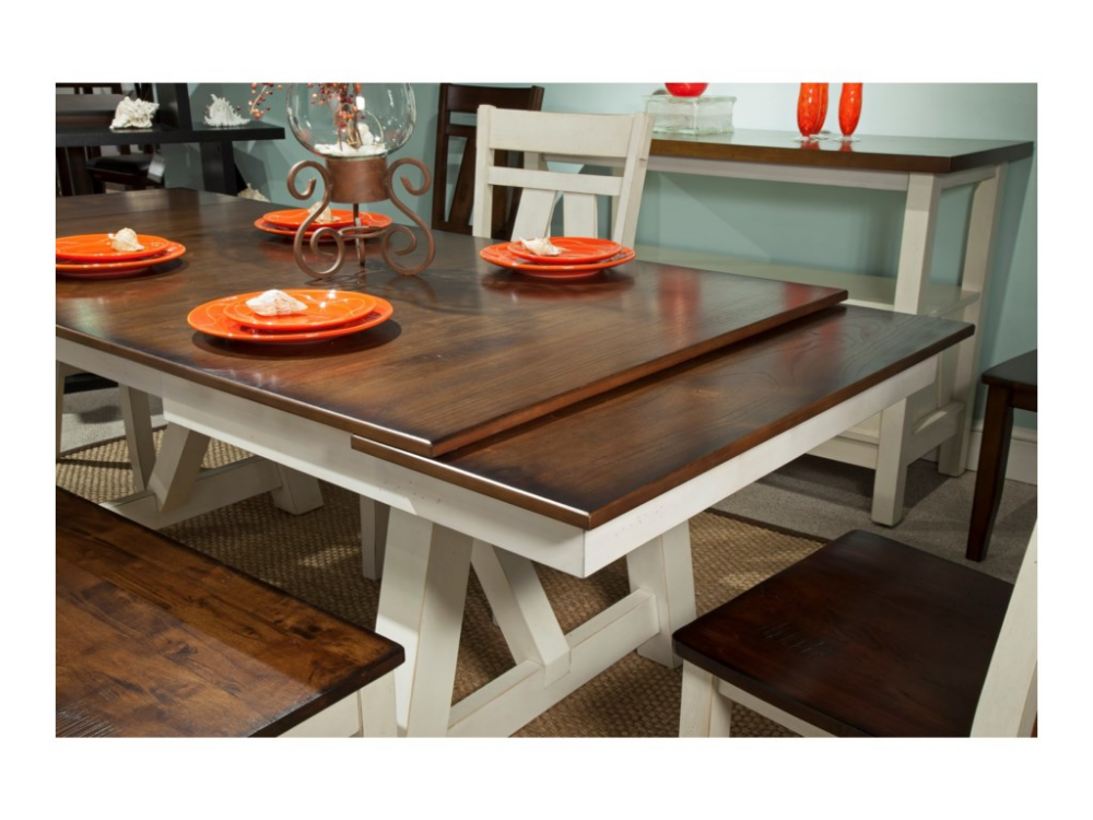 Winslow Refectory Rectangular Dining Table W Self Storing Leaves