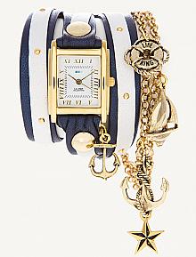 La Mer Portofino Gold Charm Wrap Watch - perfect for summer!