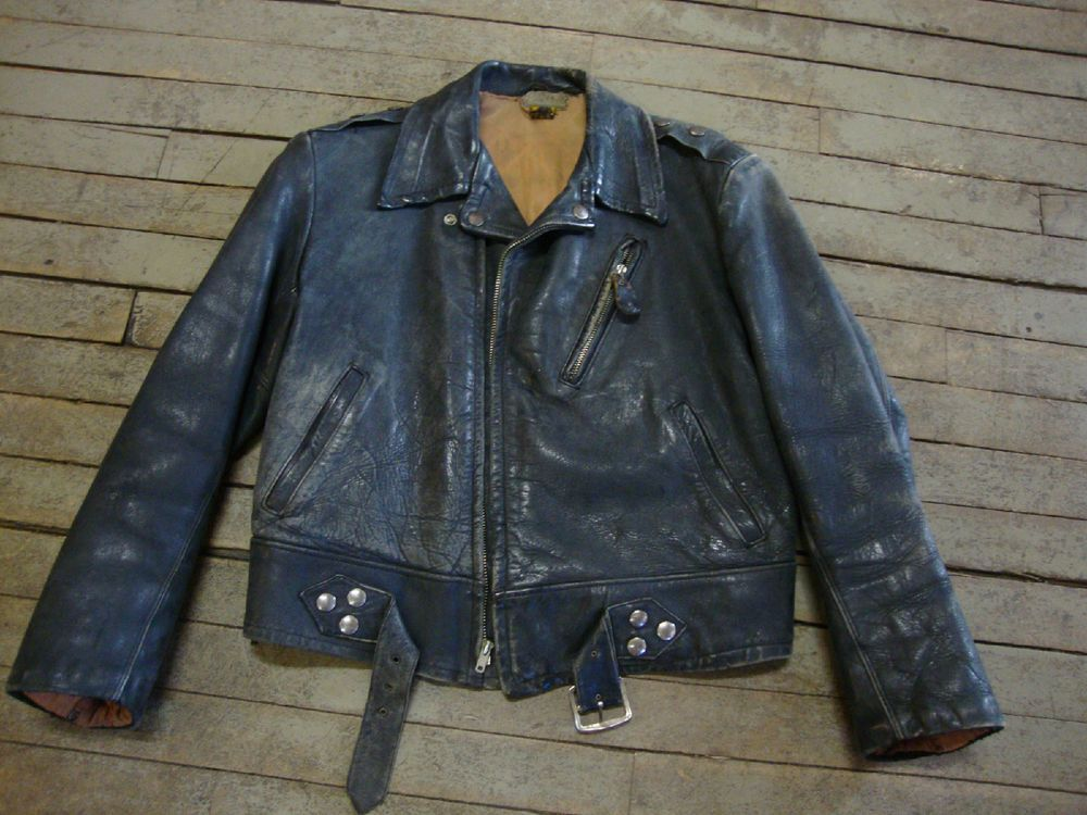 1950s Vintage Horsehide Motorcycle Jacket By Sears Boyville Rockabilly Leather Outerwear Jackets Vintage Jacket