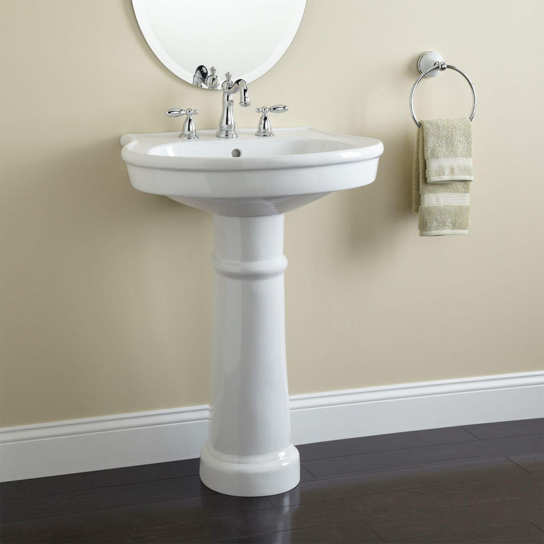pedestal sink or vanity in small bathroom%0A Pedestal sink bathroom
