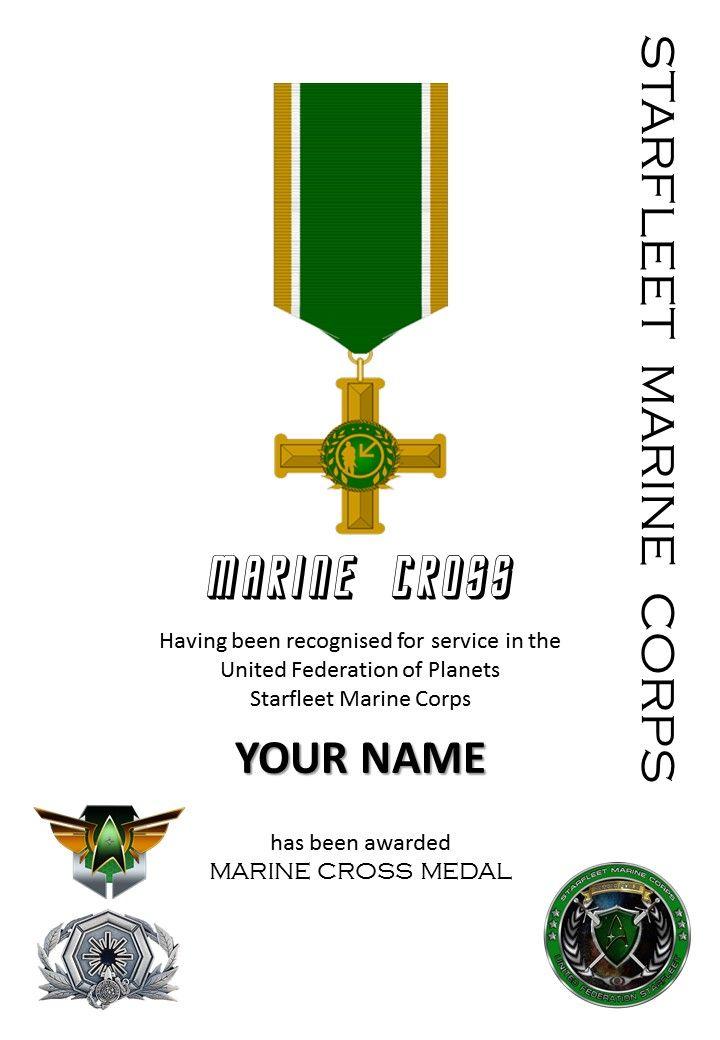Award marine cross star trek uniforms star trek