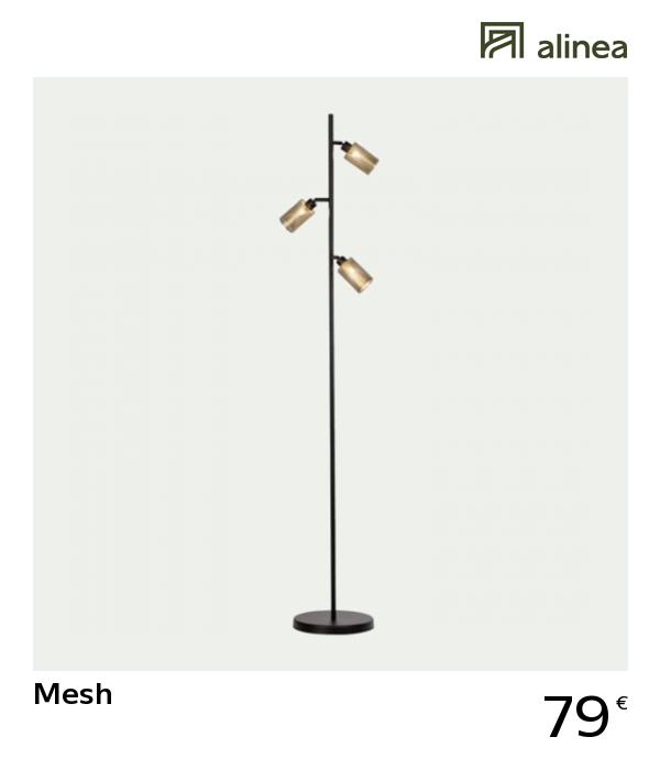Alinea Mesh Lampadaire En Metal Dore Ajoure H160cm Luminaires