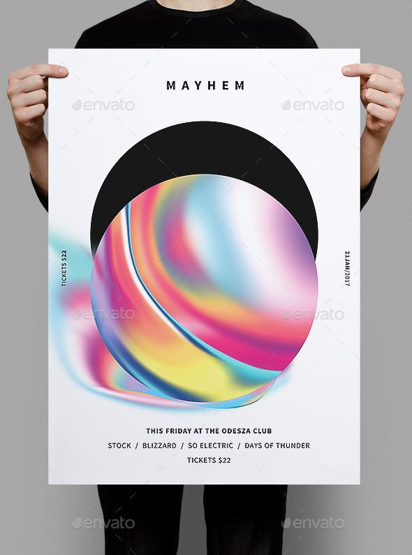Mayhem Poster / Flyer Template PSD poster design Flyer template
