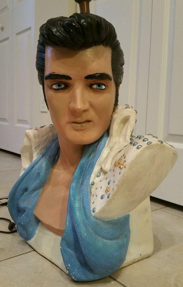 Elvis presley lamp life size bust vintage 1970's very rare ...