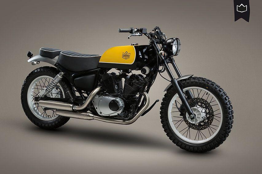 Yamaha Virago Xv125 Scrambler La Corona Motorcycles Una Moto Customizada Con Mucha Creatividad Consiguiendo Transformar A Yamaha Virago Motocicletas Motos