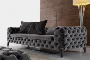 China Italian Modern Fabric Sofas Uphostered Fabric Sofa Fabric Chesterfield Sofas Supplier