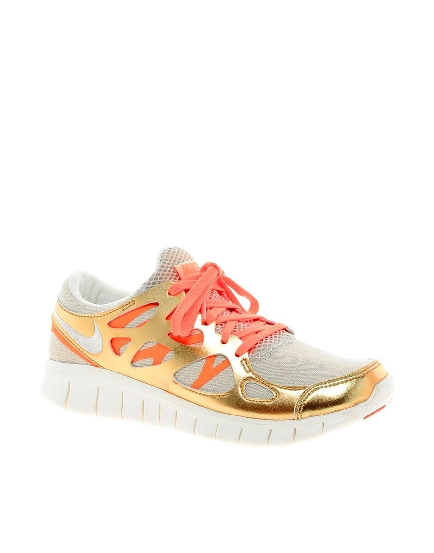 82c718b8bc4a Contrast lacing!  runner  gold  colour  peach  lace  nike